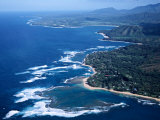 Hanalei Bay and the Distant Princeville Hotel, Kauai, Hawaii, USA Photographic Print by Charles Sleicher