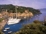 View from Chiesa S. Giorgio, Riviera di Levante, Liguria, Portofino, Italy Photographic Print by Walter Bibikow
