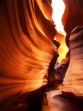 Antelope Canyon Silhouettes in Page, Arizona, USA Fotodruck von Bill Bachmann