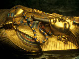 Golden Coffin of Tutahkhamun, Valley of the Kings, Egypt Photographic Print by Kenneth Garrett
