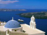 Kimisis Theotokov Church, Thira, Santorini, Cyclades Islands, Greece Fotografisk tryk af Walter Bibikow