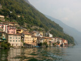 Lakeside Village, Lake Lugano, Lugano, Switzerland Stampa fotografica di Lisa S. Engelbrecht