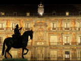 Plaza Mayor by Night, Madrid, Spain Photographic Print by Sergio Pitamitz