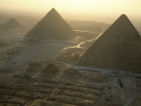 Pyramids at Giza, Giza Plateau, Egypt Photographic Print by Kenneth Garrett