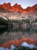 Late Afternoon Light on Sawtooth Mountains, Sawtooth National Recreation Area, Idaho, USA Photographic Print by Janis Miglavs