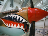 WW2 Era P-40 Tiger Shark Fighter Plane, Palm Springs Air Museum, Palm Springs, California, USA Photographic Print by Walter Bibikow