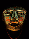 Turquoise, Mosaic, Mask, Teotihuacan, Mexico Fotografisk tryk af Kenneth Garrett