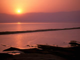 Sunrise over Dead Sea, Dead Sea, Israel Photographic Print by Nik Wheeler