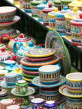Ceramic Souvenirs, Positano, Amalfi Coast, Campania, Italy Photographic Print by Walter Bibikow