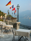 Lakeside Restaurant, Lake Como, Italy Photographic Print by Lisa S. Engelbrecht