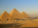 Giza Pyramid, Giza Plateau, Old Kingdom, Egypt Fotografisk tryk af Kenneth Garrett