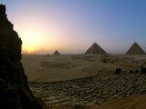 Pyramids at Giza, Menkaure, Khufu, Khafre, Egypt Photographic Print by Kenneth Garrett