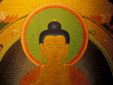 Buddha on a Thanka Painting, Tibet Photographic Print by Vassi Koutsaftis