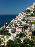 Town View from Amalfi Coast Road, Positano, Amalfi, Campania, Italy Photographic Print by Walter Bibikow