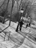 Morning on the Staircase to Montmartre, Rue Foyatier, Montmartre, Paris, France Photographic Print by Walter Bibikow