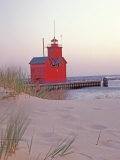 Big Red Holland Lighthouse, Holland, Ottowa County, Michigan, USA Photographic Print by Brent Bergherm
