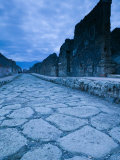 Street Stones of the Via di Mercurio, Pompei, Campania, Italy Photographic Print by Walter Bibikow