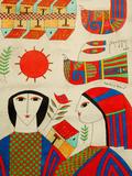 Llort Painting, Fernando Llort Gallery, San Salvador, El Salvador Fotodruck von Cindy Miller Hopkins