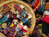 Finger Dolls, Traditional Textiles, Textile Museum, Casa del Tejido, Antigua, Guatemala Fotografie-Druck von Cindy Miller Hopkins