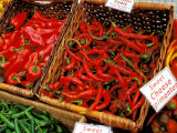 Chilli Peppers, Ferry Building Farmer's Market, San Francisco, California, USA Photographic Print by Inger Hogstrom