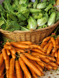 Carrots and Greens, Ferry Building Farmer&#39;s Market, San Francisco, California, USA Photographic Print by Inger Hogstrom
