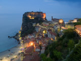 Town View with Castello Ruffo, Scilla, Calabria, Italy Photographic Print by Walter Bibikow