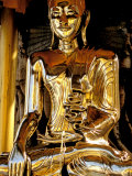 Golden Buda of Shwedagon Pagoda, Yangon, Myanmar Photographic Print by Inger Hogstrom