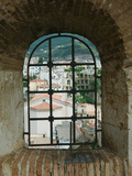 Castello Ruffo, Town View from Castle Window, Scilla, Calabria, Italy Photographic Print by Walter Bibikow