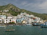 Town and Port View, Sant'Angelo, Ischia, Bay of Naples, Campania, Italy Photographic Print by Walter Bibikow