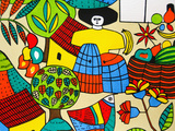 Detail of Llort Painting, Fernando Llort Gallery, San Salvador, El Salvador Fotografisk tryk af Cindy Miller Hopkins