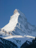 The Matterhorn, Zermatt, Valais, Wallis, Switzerland Papier Photo par Walter Bibikow