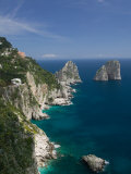 Faraglioni Rocks, Capri, Bay of Naples, Campania, Italy Photographic Print by Walter Bibikow