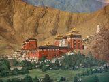 Tashilumpo Wall Painting, Tibet Photographic Print by Vassi Koutsaftis
