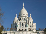 Morning View of Basilique du Sacre Coeur, Montmartre, Paris, France Photographic Print by Walter Bibikow