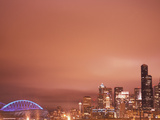 Downtown and Qwest Field, Seattle, King County, Washington, USA Photographic Print by Brent Bergherm