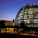 Reichstag Domed Roof, Berlin, Germany Photographic Print by Walter Bibikow