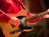 Swinging Guitar, Grand Ole Opry at Ryman Auditorium, Nashville, Tennessee, USA Photographic Print by Walter Bibikow