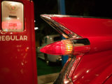 1959 Red Cadillac, Elvis Presley Automobile Collection Museum, Memphis, Tennessee, USA Photographic Print by Walter Bibikow
