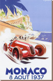 Monaco,1937 Reproduction transférée sur toile par Geo Ham