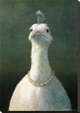Fowl with Pearls Stretched Canvas Print by Michael Sowa