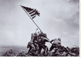 Flag Raising on Iwo Jima, February 23, 1945 Stretched Canvas Print by Joe Rosenthal