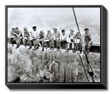Almuerzo en lo alto de un rascacielos, c.1932 Reproducción en lienzo enmarcado por Charles C. Ebbets