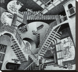 Relativity Stretched Canvas Print by M. C. Escher