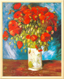 Poppies, c.1886 Framed Canvas Print by Vincent van Gogh