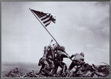 Flag Raising on Iwo Jima, February 23, 1945 Framed Canvas Print by Joe Rosenthal