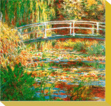 Water Lily Pond Stretched Canvas Print by Claude Monet