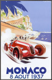 Monaco, 1937 Framed Canvas Print by Geo Ham