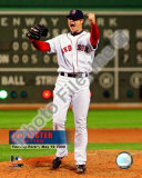 Jon Lester&#39;s 2008 No hitter Celebration; Vertical with Overlay Photo