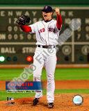 Jon Lester's 2008 No hitter Celebration; Vertical with Overlay Photo
