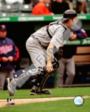 Joe Mauer 2008 Catching Action Photo